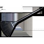 Грабли 16-зубые веерные с черенком регулируемые Русское поле