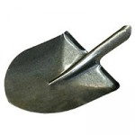 Лопата для сыпучих материалов без черенка Американка