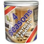Белая синтетическая эмаль 4 seasons (0.9кг) глянцевая