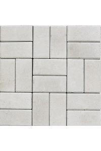 Тротуарная плитка Кирпичик 200*100*25, белая