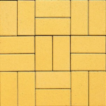 Тротуарная плитка Кирпичик 200*100*25, желтая