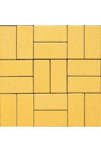 Тротуарная плитка Кирпичик 200*100*40, желтая