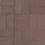 Тротуарная плитка Кирпичик 200*100*25, коричневая