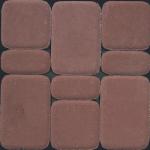 Тротуарная плитка Классико 40 мм, коричневая