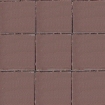 Тротуарная плитка Квадрат малый 100*100*25, коричневая