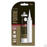 Герметик силиконовый Fome Flex-102  белый  санитарный (блистер)