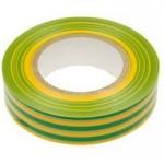 Изоляционная лента   Stayer  желто-зеленая  ПВХ 15мм (10м)