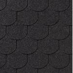 Гибкая черепица Roofshield Готик, графитно-черный