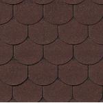 Гибкая черепица Roofshield Готик, коричневый с оттенением