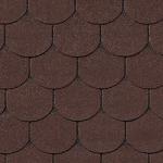 Гибкая черепица Roofshield Готик, коричневый с оттенением (2,7 мм)