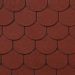 Гибкая черепица Roofshield Готик, красный (2,7 мм)