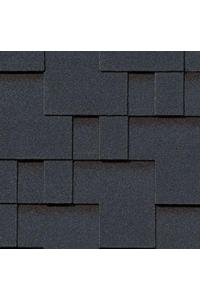 Гибкая черепица Roofshield Модерн, бархатно-черный (3,5 мм)