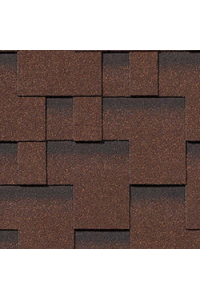 Гибкая черепица Roofshield Модерн, коричневый с оттенением