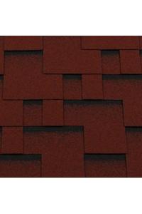 Гибкая черепица Roofshield Модерн, красный с оттенением