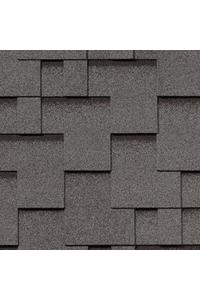 Гибкая черепица Roofshield Модерн, серый с оттенением (2,7 мм)