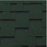 Гибкая черепица Roofshield Модерн, зеленый с оттенением (2,7 мм, 22 кг)