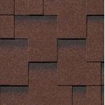 Гибкая черепица Roofshield Модерн, коричневый с оттенением (3,5 мм)