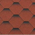 Гибкая черепица Roofshield Стандарт, кирпично-красный с оттенением