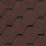 Гибкая черепица Roofshield Модерн, коричневый с оттенением (3 мм, 26 кг)