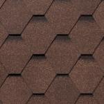 Гибкая черепица Roofshield Стандарт, коричневый топаз (3 мм)