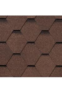 Гибкая черепица Roofshield Стандарт, коричневый