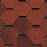 Гибкая черепица Roofshield Модерн, кирпично-красный антик