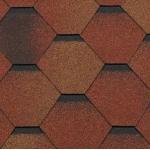 Гибкая черепица Roofshield Стандарт, красно-коричневый