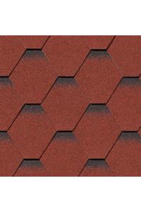 Гибкая черепица Roofshield Стандарт, красный с оттенением (2,7 мм)