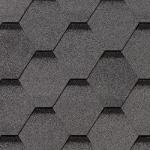 Гибкая черепица Roofshield Стандарт, серый с оттенением (3,5 мм)