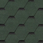 Гибкая черепица Roofshield Стандарт, зеленый с оттенением