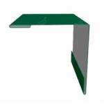 Планка угла наружного 50*50*2000мм зеленая