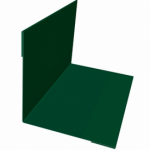 Планка угла внутреннего 100*100*2000мм зеленая