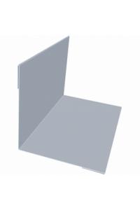Планка угла внутреннего 50*50*2000мм серебристая