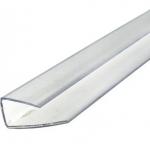 Профиль торцевой 8мм, прозрачный (2.1м)