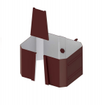Держатель трубы 76*102  (на кирпич) (ПЭ-01-8017-0,5)