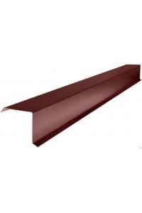 Ветровая планка 95*120*2000мм коричневая