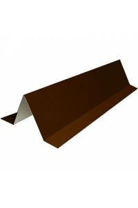 Планка снегозадержателя 95*65*2000мм коричневая