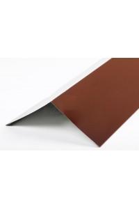Планка угла наружного 100*100*2000мм коричневая