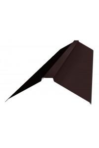 Планка конька с полкой 150*150*2000мм коричневая