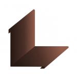 Планка угла внутреннего 100*100*2000мм коричневая