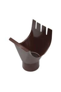 Воронка выпускная 76*102мм коричневая
