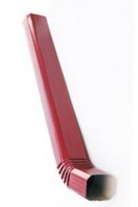 Труба водосточная с коленом 76*102*1000мм красное вино