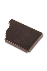 Заглушка для желоба 120*86мм правая коричневая
