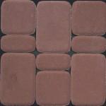 Тротуарная плитка Классико 60мм коричневый
