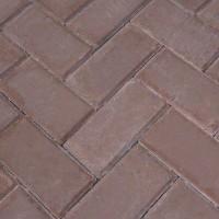 Тротуарная брусчатка 200*100*40мм коричневая