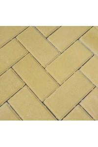 Тротуарная брусчатка 200*100*25мм желтая