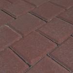 Тротуарная плитка Квадрат малый 100*100*40мм коричневая
