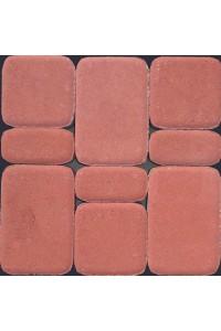 Тротуарная плитка Классико 40мм красная