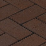 Тротуарная брусчатка 200*100*25мм коричневая