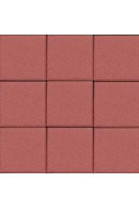 Тротуарная плитка Квадрат малый 100*100*60мм красная
